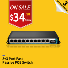 24v 8 ports Passive POE 100M Power Over Ethernet POE injector switch