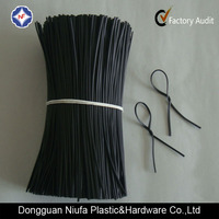 Oval PE/PVC Single Core Plastic Twist Tie for Electric Wire