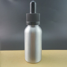 New disigned 1 oz 30ml silver aluminum dropper bottle for e juice e liquid with childproof cap