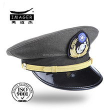 Flat military coast guard colonel cap with back flap