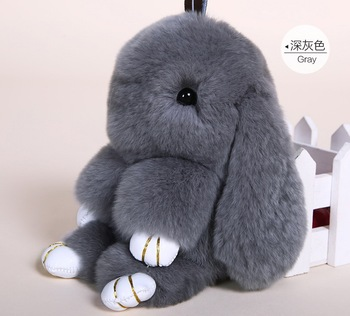 Rex Rabbit Fur Keychain Cute Rabbit Doll Keychain Pendant Key Chain