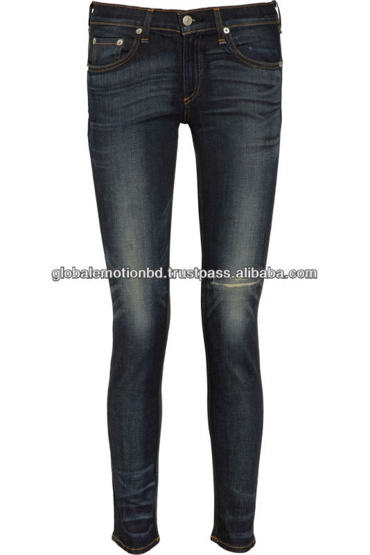 2013 latest design ladies skinny jeans
