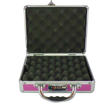 Safety beauty pistol equipment storage foam leather aluminum gun bag case