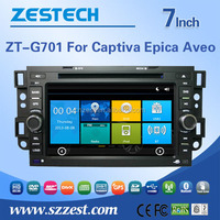 in dash car stereo for chevrolet captiva with dvd gps fm/am radio phonebookl SWC RDS bluetooh