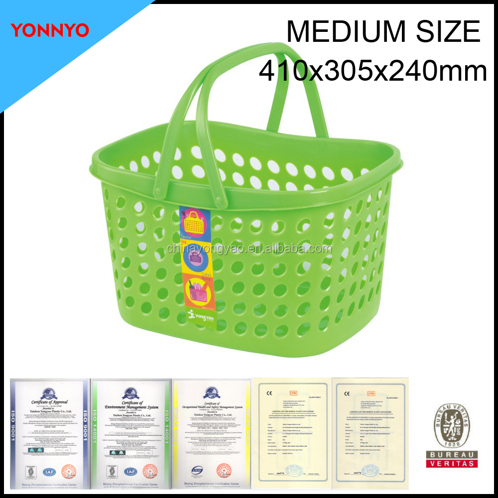 medium size plastic carry basket with handle