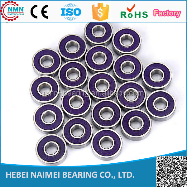 ABEC 9 High speed 6 balls 608 ZZ RS bearing skateboard ball bearings 8x22x7mm