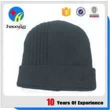Polyester Beanie Knitted Cap Custom Knit Hats