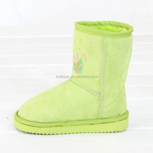 green EVA sole funky snow boots for kids