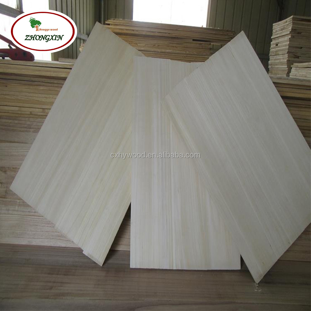 Unbleached Paulownia Wood Finger Jointed Board