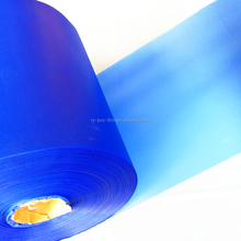 2017 Hot Sale soft embossed colored blue PVC film roll