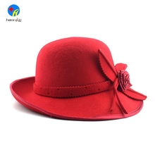 Fashion Decoration Ladies Wholesale Custom Wool Felt Fedora Trilby Hat