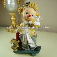 custom polyresin collectible clown figurines