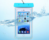 Transparent IPX8 Waterproof Cell Phone Cover Case Glow in The Dark Waterproof Swimming Dry Pouch Case with Armband
