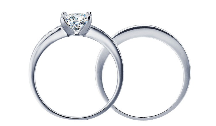 Free sample silver 925 princess cut cz diamond engagement for Sample of wedding rings