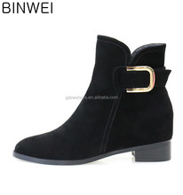 suede leather women short ankle boots fashion