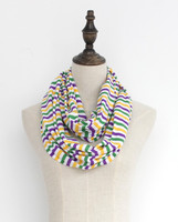 SCARF Gold Green Purple On Black Background New Orleans scarf