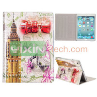 Fashion Cystal Diamond Studded Magnetic Case For iPad Air Stand Leather Case