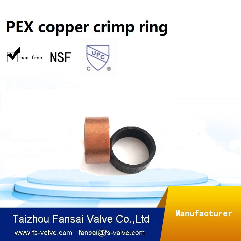 "Chinese manufacturer lead free copper cUPC forged <strong>3</strong>/4""PEX copper crimp ring"
