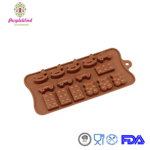 15-Cavity Silicone Toy, Car, Block and Bear Chocolate Mold/Candy cookies baking pan