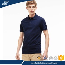 Guangzhou Wholesale EU Man's Dark Blue Original Cotton Polo shirt