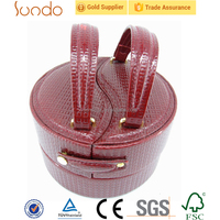 novelty cosmetic rolling round case, cosmetic jar with handle