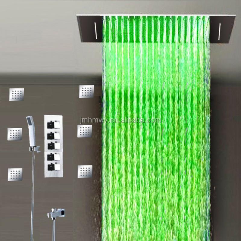 Energ a hidr ulica llev lluvia cascada ducha doble for Ducha lluvia precio