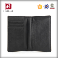 leather passport wallet case, RFID blocking card holder