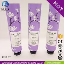 Soft plastic cosmetic packing tube container foot and hand cream tube
