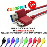 Colorful Braided Fabric Micro USB 3.0 Cable Nylon braided usb cable for Samsung NOTE 3 III braided usb2.0 micro B cable 1M 2M 3M