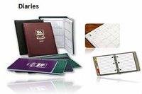 Diary 2015, PU Leather, Hardcover or with Elastic Rubber