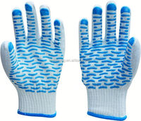 pvc diotted cotton glove/truck driver gloves