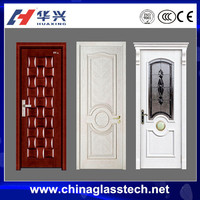 CE certificate single unclear frosted glass waterproof no distortion pvc profile swing grid cabinet door