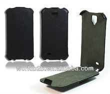 leather case for samsung galaxy s4 i9500, hot pressing Flip leather case