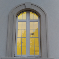 Energy saving low-e glass thermal break aluminium profile window