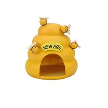 yellow cute funny custom indoor unique fancy dog kennel