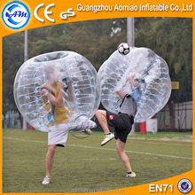 Best selling 1.5m 0.7mm TPU clear inflatable soccer bubble,bumper ball soccer for adult
