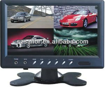 7 inch Standalone car Monitor With Built-in Splitter