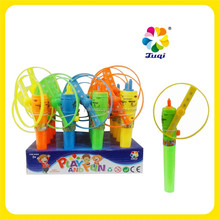 Toys Candy Space Flying Disk Gun Toys spin to sky