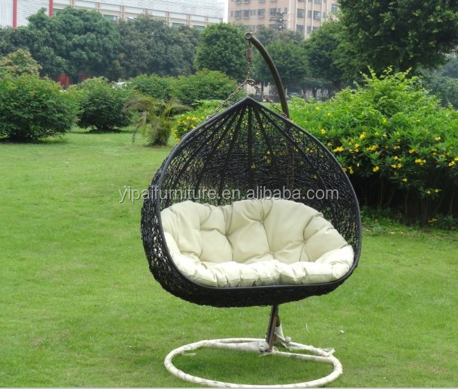 free standing hammock target swing outdoor garden round with cushion for double buy product wooden frame