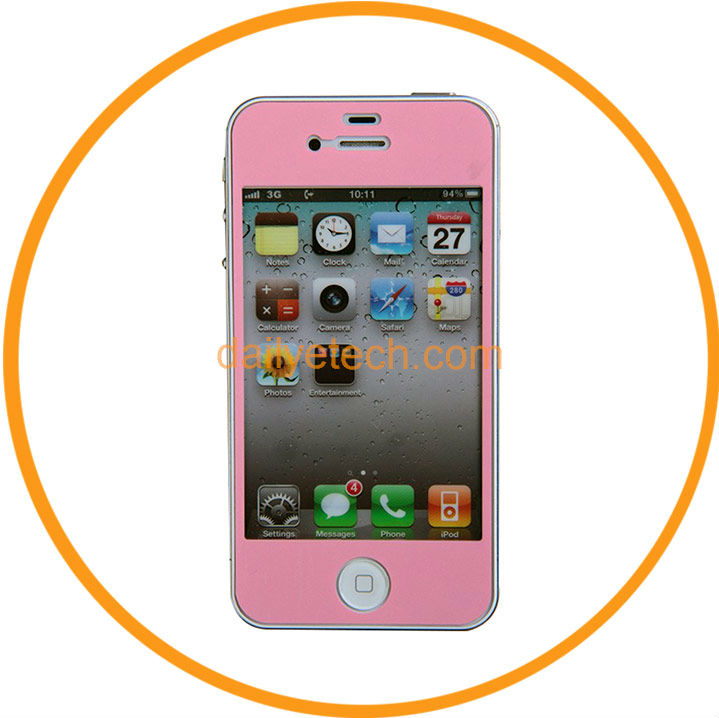 Full Body Anti Glare Screen Protector Film Skin Guard For iphone 5 5G Pink from Dailyetech