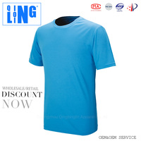 Men's Outdoor Sports Dry Fit Fashion Boys T shirts Cycling Running Fitness Breathable Plain Round Neck T shirts