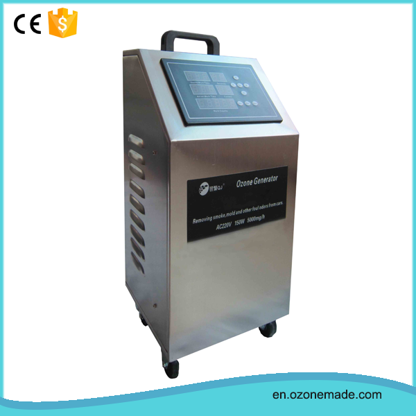 Small scale ozone car air treatment machines for family