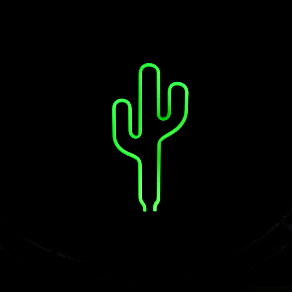 cactus neon lamp led light sign