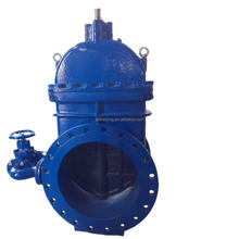 DN1000 DN1200 DN1800 cast iron gear operated gate valve with by pass