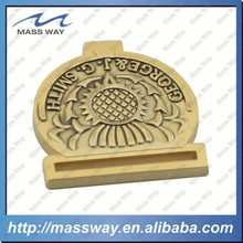 custom fashion die casting zinc alloy lock bag gold plated metal belt buckle