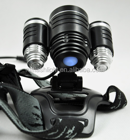 2+1 Multifunctional Super Bright Li-ion Battery hunting led head lamp Miners helmet lamp