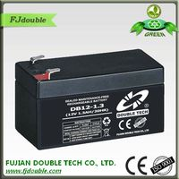 small rechargeable battery 12v 1.3ah for flashlight