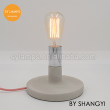 New design concrete table lamp concrete desk lamp for dimming switch