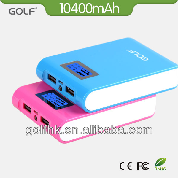 2014 Best selling items portable multi connectors 10400mAh power bank charger with dual usb power station