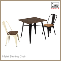 Modern metal frame furniture used restaurant table and chair